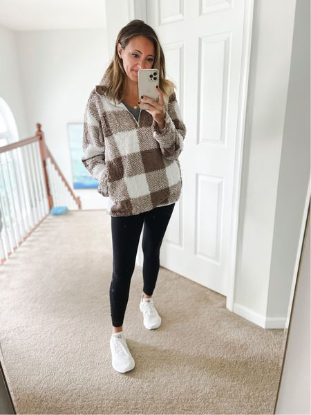 #ootd is the cozy fleece sweatshirt!  Fleece Sherpa Yoga pants Leggings White sneakers Target style holiday gifts, Amazon fashion sweater dress shacket Family photos Walmart finds booties Target finds winter style sweaters workout wear active wear amazon finds Apple Watch bands living room home decor wedding guest dresses Nordstrom Fall fashion  Halloween  #LTKsalealert #LTKfit #LTKunder50