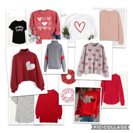 Time to start thinking about Valentine's Day and what to wear! So many cute love and heart sweatshirts and accessories! I personally love the elbow patch sweater which I bought probably two years ago. I'm seriously eyeing the fuzzy hearts sweater for this year!   http://liketk.it/35NQm #liketkit @liketoknow.it   Download the LIKEtoKNOW.it shopping app to shop this pic via screenshot
