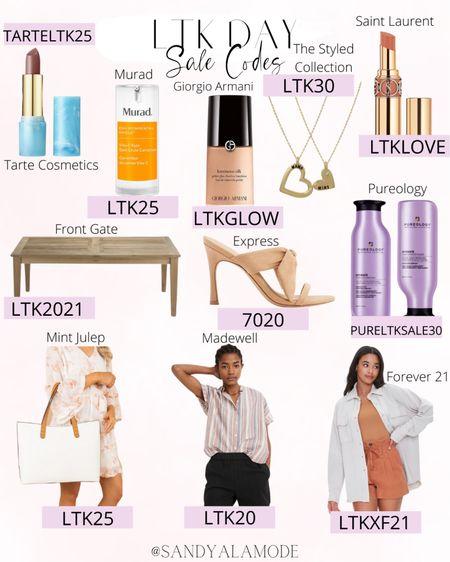 LTK Day sale codes! http://liketk.it/3hnR3 #liketkit @liketoknow.it #LTKDay #LTKsalealert