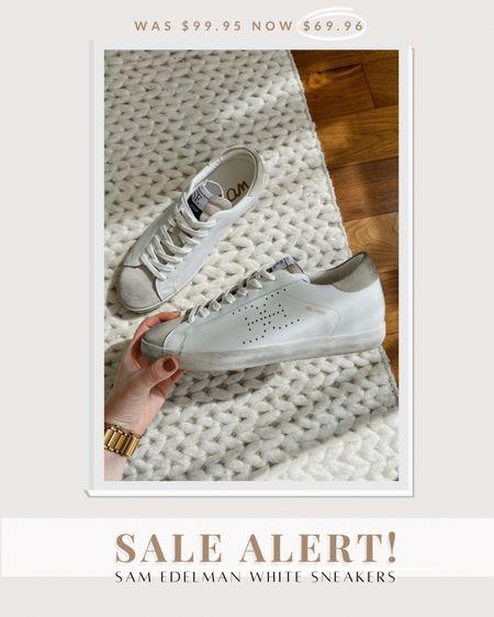 My favorite Sam Edelman white sneakers are on sale! (Run TTS)   #LTKsalealert #LTKshoecrush #LTKunder100
