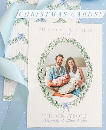 Christmas Cards #christmascards #familyphotos #boxwood #bowsandblue #bluebows #boxwoods   #LTKHoliday #LTKSeasonal #LTKGiftGuide