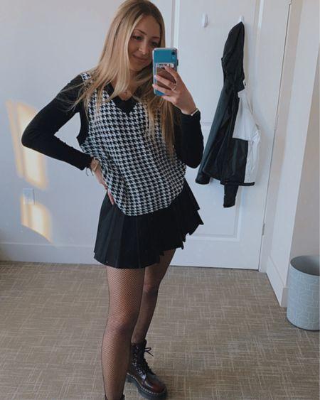 #winterinspo #liketoknowit #spring #sweatervest #skirt #docmartens #ootd #pinterest http://liketk.it/3awaI #liketkit @liketoknow.it