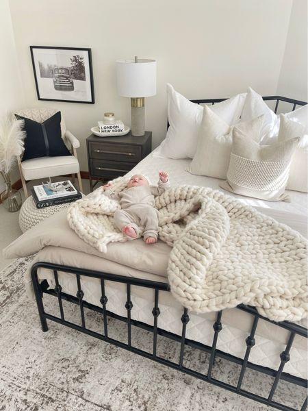 H O M E \ Cozy bedroom w/ a side of baby☺️🥰  #bedroom #bedroomdecor   #LTKbaby #LTKhome #LTKunder100