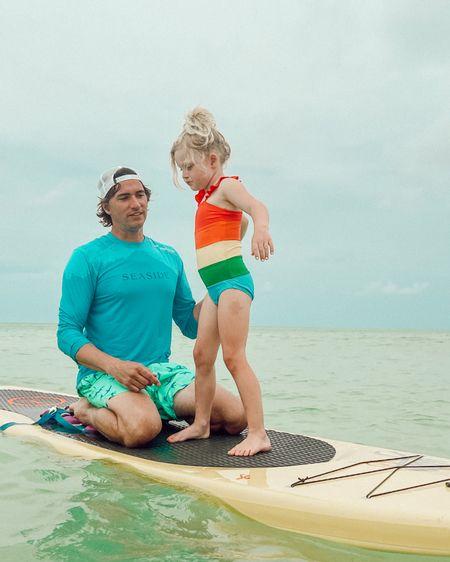Little girl rainbow swimsuit http://liketk.it/3hbXM @liketoknow.it #liketkit #LTKunder100 #LTKunder50 #LTKsalealert