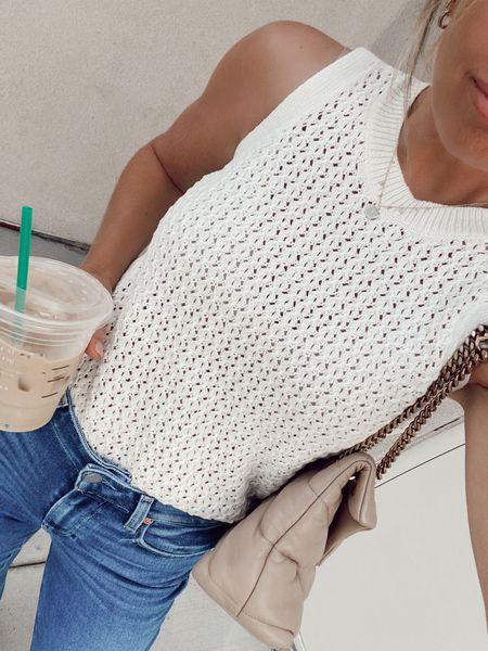 target style, sweater tank  #LTKstyletip #LTKunder50