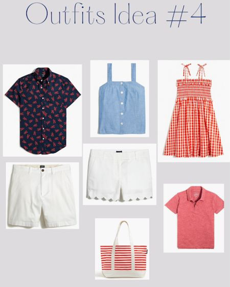 Red white and blue matching family outfits for Fourth of July http://liketk.it/3iOxC #liketkit @liketoknow.it #LTKfamily