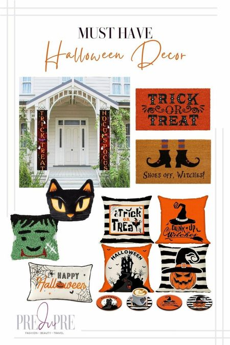 Haven't decorated for Halloween yet? I got you. Check out these great Amazon and Target find. Perfect for the spooky holiday.  Halloween, fall outdoor decor, outdoor decor, Halloween decor, Halloween fun, witch decor, witches, witchy decor, trick or treat, cat, frankenstein, ghost, outdoor decor, indoor decor, throw pillows   #LTKHoliday #LTKSeasonal #LTKhome