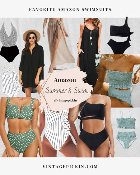 Loving all of these Amazon swimsuits right now. Affordable and different options for high waisted, one shoulder, one piece etc! #amazonswim #swimwear #summer http://liketk.it/3fJeZ    #liketkit #LTKswim #LTKunder50 #LTKtravel @liketoknow.it