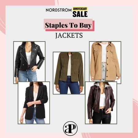Nordstrom Anniversary Sale - Staples You should Buy - Jackets #liketoknowit  #LTKsalealert #LTKstyletip #LTKunder100