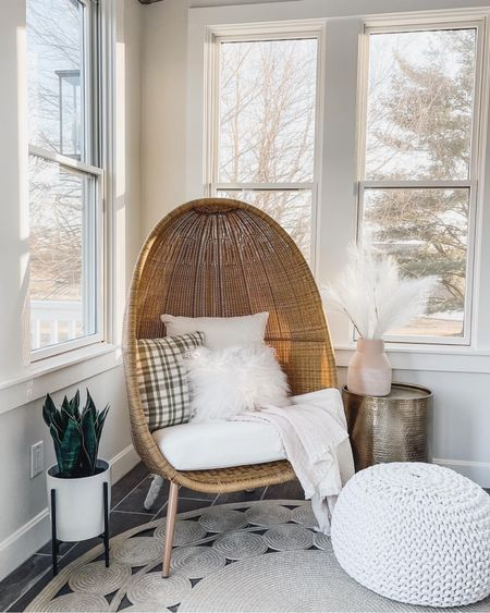 Cozy indoor/outdoor retreat🤍 Love this classic egg chair and cozy throws! http://liketk.it/3dTsi #liketkit @liketoknow.it #LTKhome #LTKfamily #LTKstyletip @liketoknow.it.family @liketoknow.it.home You can instantly shop all of my looks by following me on the LIKEtoKNOW.it shopping app
