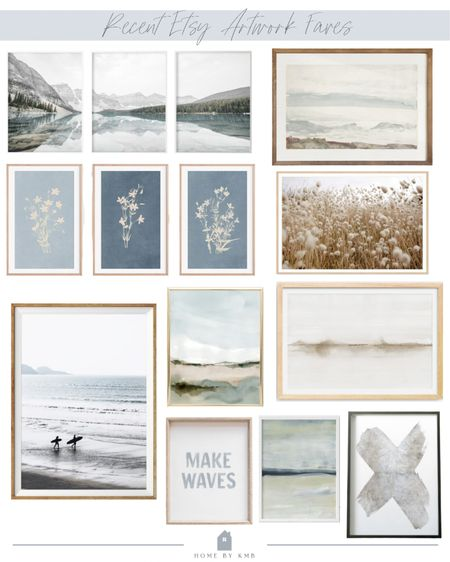 Recent Etsy artwork faves! I use these in so many of my home designs!   #LTKhome