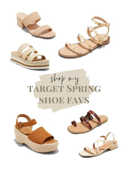 Target Spring Shoes🤎 gladiator sandal. chunky heel. sandals. for spring. for summer.  #LTKsalealert #LTKshoecrush #LTKunder50