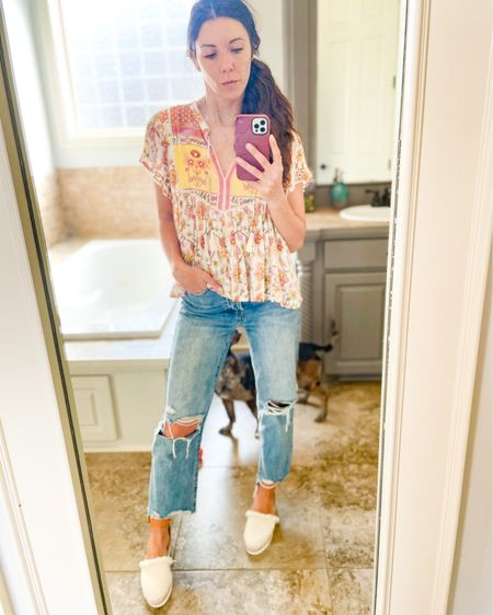 Casual blouses + boyfriend jeans + Chloe Espadrilles http://liketk.it/3bgQY #LTKshoecrush #LTKstyletip #liketkit @liketoknow.it