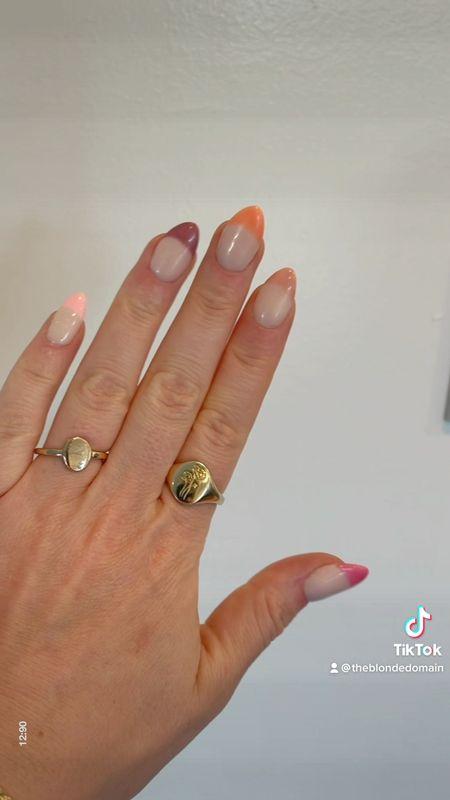 Sharing my new nails and gold rings are amazon!   #LTKbeauty #LTKSeasonal #LTKstyletip