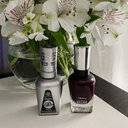 The perfect deep purple polish.   Make it matte with this top coat! No streaks- just a smooth velvety finish. Perfect for a fall mani or pedi   #LTKbeauty #LTKstyletip #LTKsalealert
