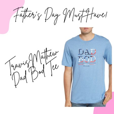"""Because every Dad needs a """"Dad Bod"""" tee! 💪🏻😂 Seriously, an AMAZING gift, and one that will be the talk of the town!  Sunday is Father's Day; you still have time to grab some awesomeness for your #1 Dad! Download the LIKEtoKNOW.it shopping app to shop this pic via screenshot! 💪🏻 http://liketk.it/3hTU0 @liketoknow.it #liketkit #fathersday #LTKunder50  #LTKstyletip #LTKmens"""
