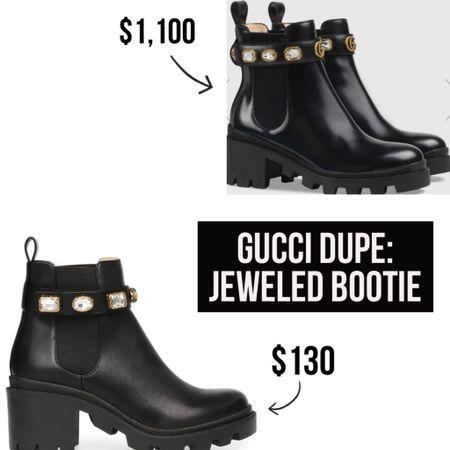Gucci Dupe: Jeweled Booties! Links in LTK!  #gucci #dupe #bootie #bootieseason #styleblogger #bloggerstyle #stevemadden #dupes #fallstyle #fall #fallfashion #ltkfall #shoecrush  #LTKshoecrush #LTKstyletip #StayHomeWithLTK #liketkit @liketoknow.it http://liketk.it/2WDMW