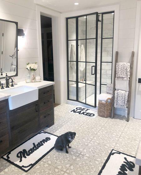 H O M E \ The cutest bath mat!!  #bathroom #bathroomdecor #homedecor #farmhouse  #LTKunder50 #LTKhome