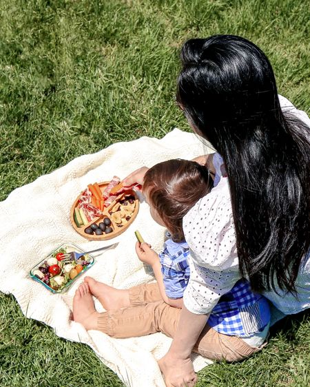 #nationalpicnicday!  Soaking in some sun and cuddles.  This bamboo plate and glassware food containers are the best!  Also loving this @target since it's lightweight and lined!   Follow me on the LIKEtoKNOW.it shopping app to get the product details for this look and others  http://liketk.it/3dFbe #liketkit @liketoknow.it @liketoknow.it.family #LTKhome #LTKfamily #LTKsalealert