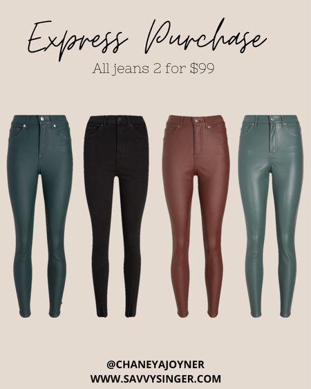@express jeans are currently buy 2 for $99.  #ltkholiday #ltkseasonal #ltkstyletip #ltksalealert #ltkunder100