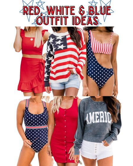 American flag sweater, red two piece set, Stars and Stripes swimsuit, red T-shirt dress, America cropped pullover, America corded pullover, 4th of July outfits, 4th of July 20% off with KELSIE20  http://liketk.it/3hD7Q @liketoknow.it #liketkit