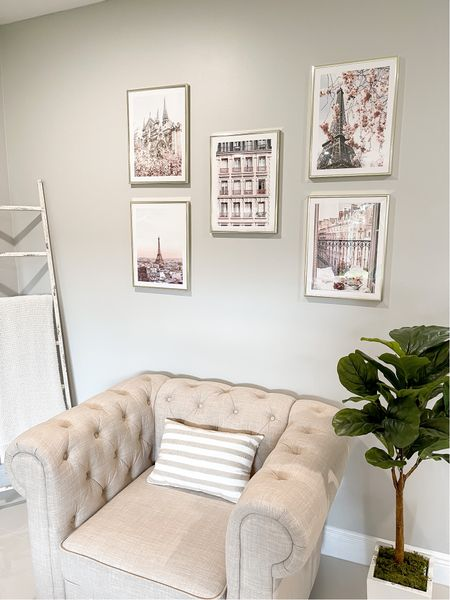 My new living room space with my Parisian gallery wall!    #LTKunder100 #LTKstyletip #LTKhome