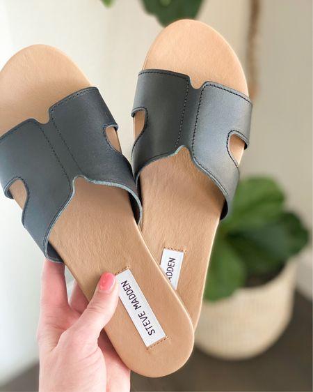 http://liketk.it/3cNxa @liketoknow.it #liketkit #LTKunder100 #LTKshoecrush #LTKtravel    Spring outfit Spring fashion Summer fashion  Swimwear Beach vacation  Summer dress  Wedding guest Sandals Nude sandals Black sandals Slide sandals
