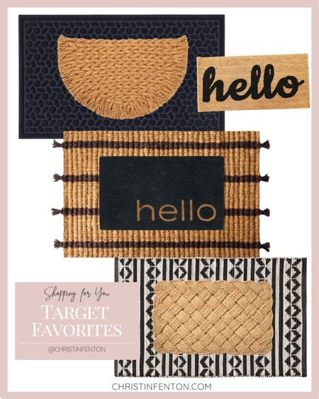 Target home decor finds! Outdoor rugs & outdoor welcome mats🤍 Layer your welcome mats 🎀 Found it at Target! Fall home decor. Click the products below to shop! Follow along @christinfenton for new home decor finds & sales! @shop.ltk @ltk.home #liketkit #targetfinds #founditattarget 🥰 So excited you are here with me shopping for your home! 🤍 XoX Christin   #LTKstyletip #LTKsalealert #LTKwedding #LTKunder50 #LTKunder100 #LTKbeauty #LTKhome #LTKtravel #LTKseasonal #LTKfamily