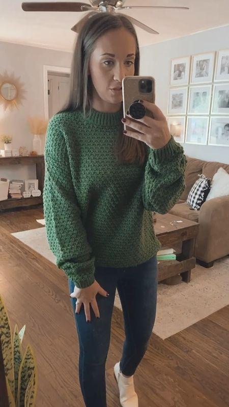 Target sweater - sized up one to a small   #LTKsalealert #LTKstyletip #LTKunder50