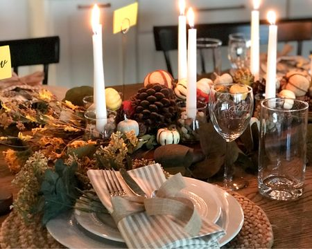 Is your Thanksgiving or Friendsgiving tablescape ready? Here's for autumn table setting that's perfect for Turkey day!   #LTKFall #LTKfamily #StayHomeWithLTK