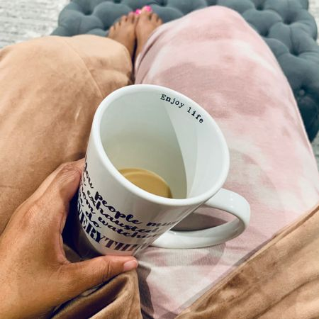 The calm before the storm... Wish I could stay here all day in my pajamas and robe with a delicious cup of coffee.   Sharing some of my favorite things over on my YouTube channel today https://youtu.be/TOGpPsRfabM . Can you spot 3 of my faves in this photo?   #skimsrobe #blkandboldcoffee #targetstyle #targetpajamas    #StayHomeWithLTK #LTKunder50 @liketoknow.it.home Shop your screenshot of this pic with the LIKEtoKNOW.it shopping app http://liketk.it/399HV #liketkit @liketoknow.it