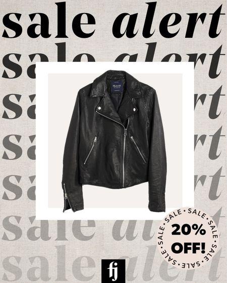 My favorite black leather jacket is on major sale! I'm 5'10 and wear a small #falloutfit #capsulewardrobr #leatherjacket   #LTKstyletip #LTKsalealert
