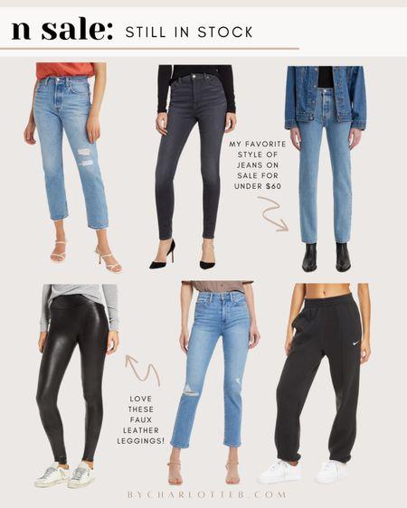 Nordstrom anniversary sale jeans and spans faux leather leggings that are still in stock!   #LTKunder100 #LTKsalealert