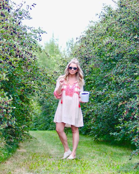 Typical Monday evening berry picking and baking pie! Watch my Instagram stories to see where we went this evening. I just scored this @freepeople dress on sale for $8 0 @hudsonsbay. I can't find it anywhere online BUT I've linked my favourite embroidered dresses (a few under $50!) here! #liketkit @liketoknow.it http://liketk.it/2wGUQ