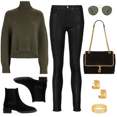 An everyday look for fall/winter that's still incredibly chic 🖤🖤🖤 I need these Stuart Weitzman boots! Shop this outfit inspo + more by following merrittbeck on the @shop.ltk!   #tssedited #thestylescribe #turtleneck #ootd #classic #sweaterweather #falloutfit