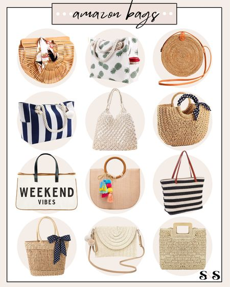 Amazon beach bags! So many different style & size options - most come in more color options too🙌 #amazon #amazonfashion #amazonfinds #amazonprime #amazonfashionfinds #summeramazonfashion #beachbag #beachbags #strawbags #beachvacation #vacation #summerfashion #bags #purses  #LTKunder50 #LTKunder100 #LTKitbag