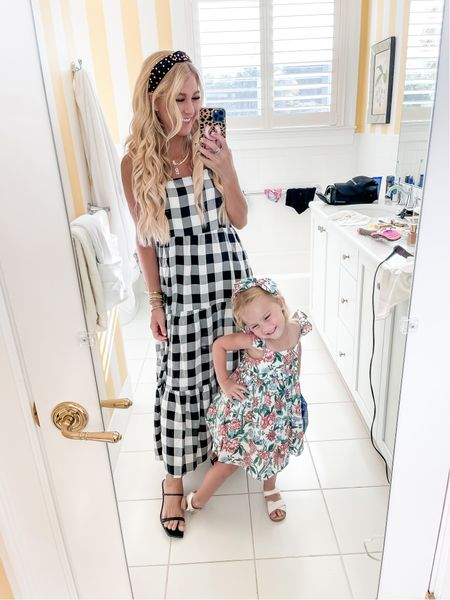 Luv this gingham Buffalo check dress for Florida fall. Wearing an XS. Also linking Kota's dress on sale and these super comfy low heeled sandals I'm LUVing    #LTKSeasonal #LTKshoecrush #LTKunder100
