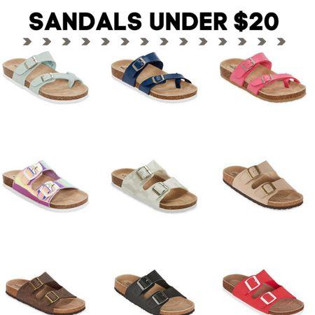 Sandals UNDER $20. Check each style for promo codes that will bring it under $20.  http://liketk.it/3jjoH #liketkit @liketoknow.it #LTKshoecrush #LTKunder50 #LTKsalealert