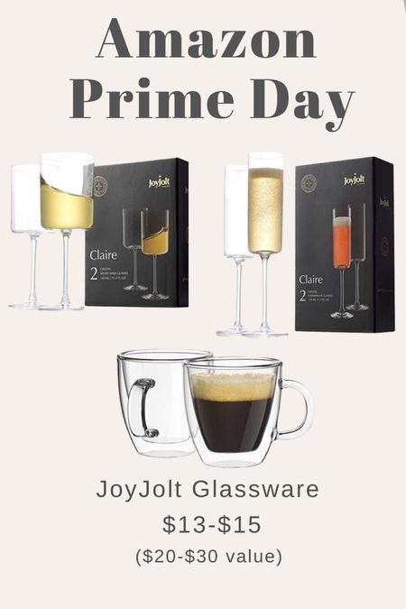 Amazon prime day - glassware / wine glasses / espresso mugs   #LTKsalealert #LTKhome #LTKSeasonal