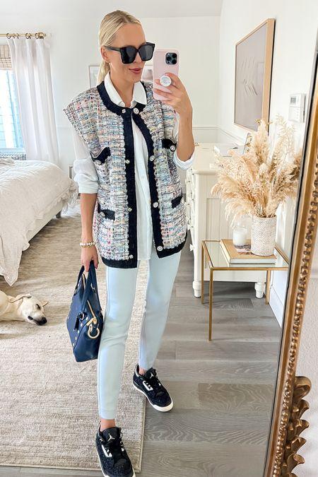 All about an oversized tweed vest. Linking favorites    #LTKsalealert #LTKSeasonal #LTKunder100