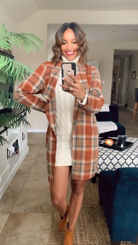 Perfect Fall look  Everything fits TTS Wearing a Small in sweater and coat   #LTKSeasonal #LTKGiftGuide #LTKHoliday