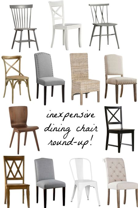 Inexpensive (but stylish!) dining chairs for your dining room or kitchen eat-in. (home decor ideas)  #LTKsalealert #LTKhome #LTKunder100