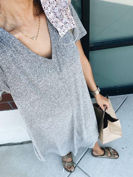 First musts: shirt dress, birks, fanny pack 🙌🏽   #LTKshoecrush #LTKstyletip #LTKunder100