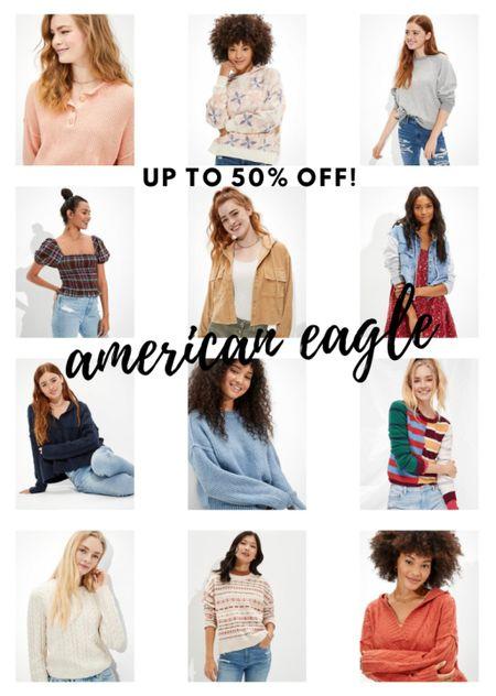 Up to 50% off everything at American Eagle  #LTKunder50 #LTKworkwear #LTKGiftGuide