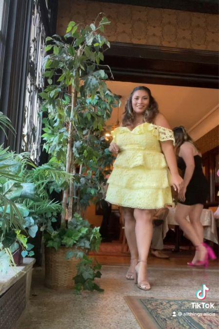 My rehearsal dinner outfit!   #LTKshoecrush #LTKwedding #LTKcurves
