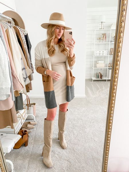 Neutral layering dress under $25 and in stock in the Nordstrom Anniversary Sale- I sized up to a medium