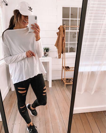 Amazon hat  Sneakers - true to size  Amazon shirt - wearing a S, runs oversized  Amazon leggings - wearing a S  amazon fashion Amazon finds amazon outfits amazon athleisure outfits  #LTKunder50 #LTKfit #LTKSeasonal http://liketk.it/3axsh @liketoknow.it #liketkit