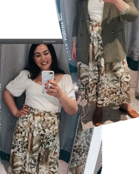 Last week (before social distancing) I stop by @hm and I was so excited to see that they've expanded their sizes in stores up to a size 2XL. I did a Spring try-on...lots of puff sleeves? Are you into this trend? Head to my stories to see the try-on haul and shop. Everything is also linked on the @liketoknow.it app http://liketk.it/2LI3O .  -  # #liketkit #ltkcurves #curveblogger #embracingmycurves #yoursizeyourstyle  #curvygirlstyle #beautybeyondsize #plusisamust #plussizeoutfit #springstyle #psblogger #psfashion #psstyle