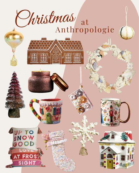 Christmas at Anthropologie  Stockings, ornaments, home decor, trees, wreaths  #LTKHoliday #LTKSeasonal #LTKhome
