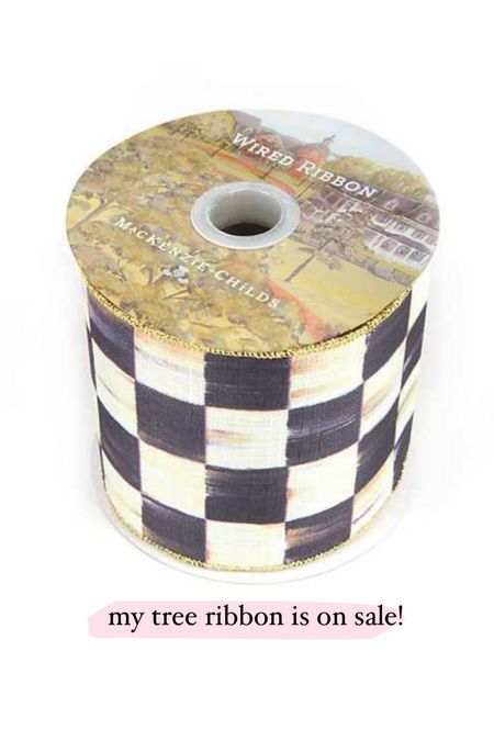 my christmas tree ribbon is on sale and trust me it'll sell out! I have the 4 inch.   #LTKhome #LTKsalealert #LTKunder100